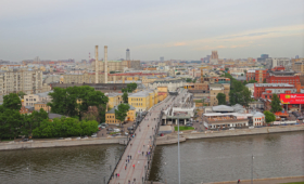 Вид со смотровой площадки Храма Христа Спасителя в Москве / View from visitor's viewing platform of the Cathedral of Christ the Saviour in Moscow / © A.Savin CC BY-SA 4.0, FAL