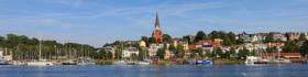 Панорама Фленсбурга, Германия / Panorama of Jürgensby and harbour in Flensburg, Germany / © A.Savin CC BY-SA 4.0, FAL