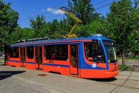 Трамвай 71-631 на Нагатинской улице в Москве / Tram 71-631 on Nagatinskaya Street in Moscow / © A.Savin CC BY-SA 4.0, FAL