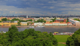 View to University Embankment in Saint Petersburg