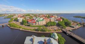Вид на город Выборг с башни Олафа / View to Vyborg towm from Olaf tower, Russia / © A.Savin CC BY-SA 4.0, FAL