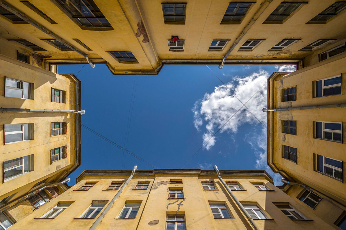 Courtyard in Saint Petersburg