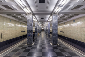 Sokolniki station of Moscow Metro