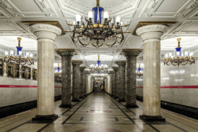 Avtovo station of Saint Petersburg Metro