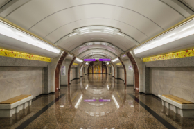Bukharestskaya station of Saint Petersburg Metro