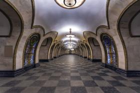 Novoslobodskaya station of Moscow Metro
