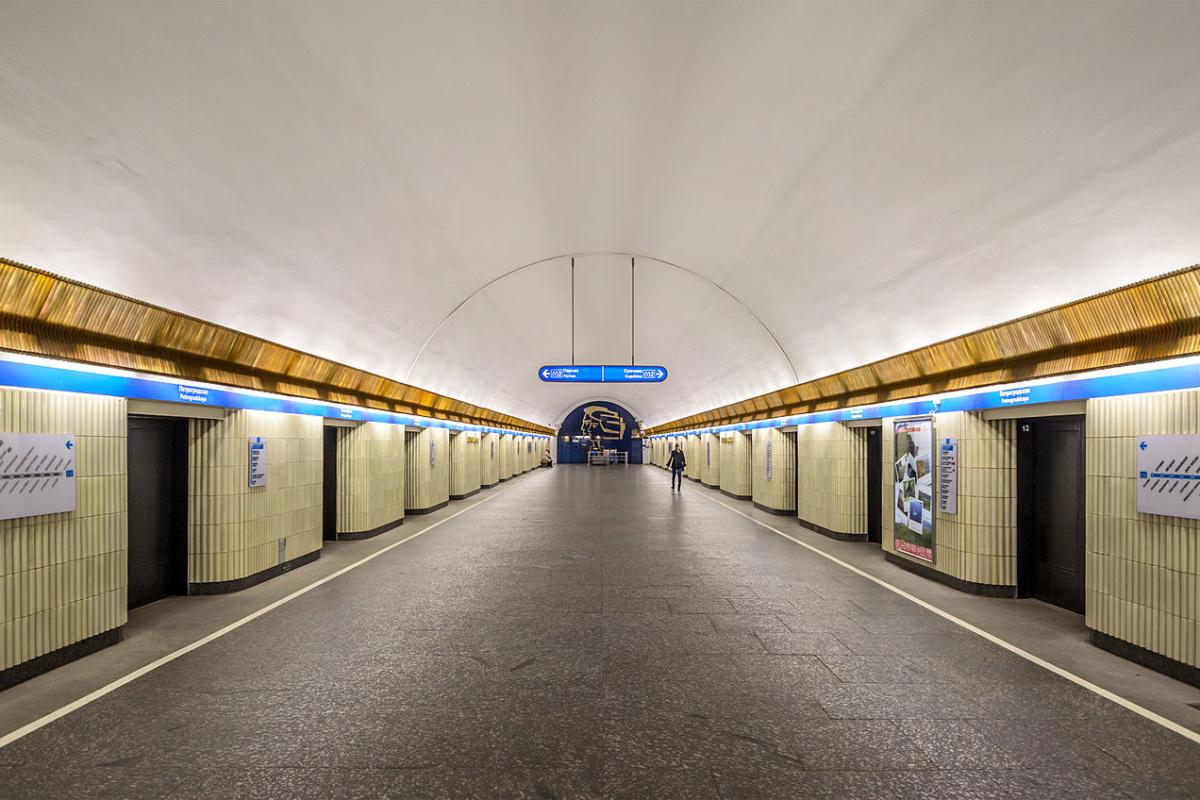 Petrogradskaya station of Saint Petersburg Metro