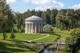 Temple of Friendship in Pavlovsk Park in Saint Petersburg