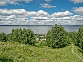 View from Balchug hill in Galich, Kostroma Oblast