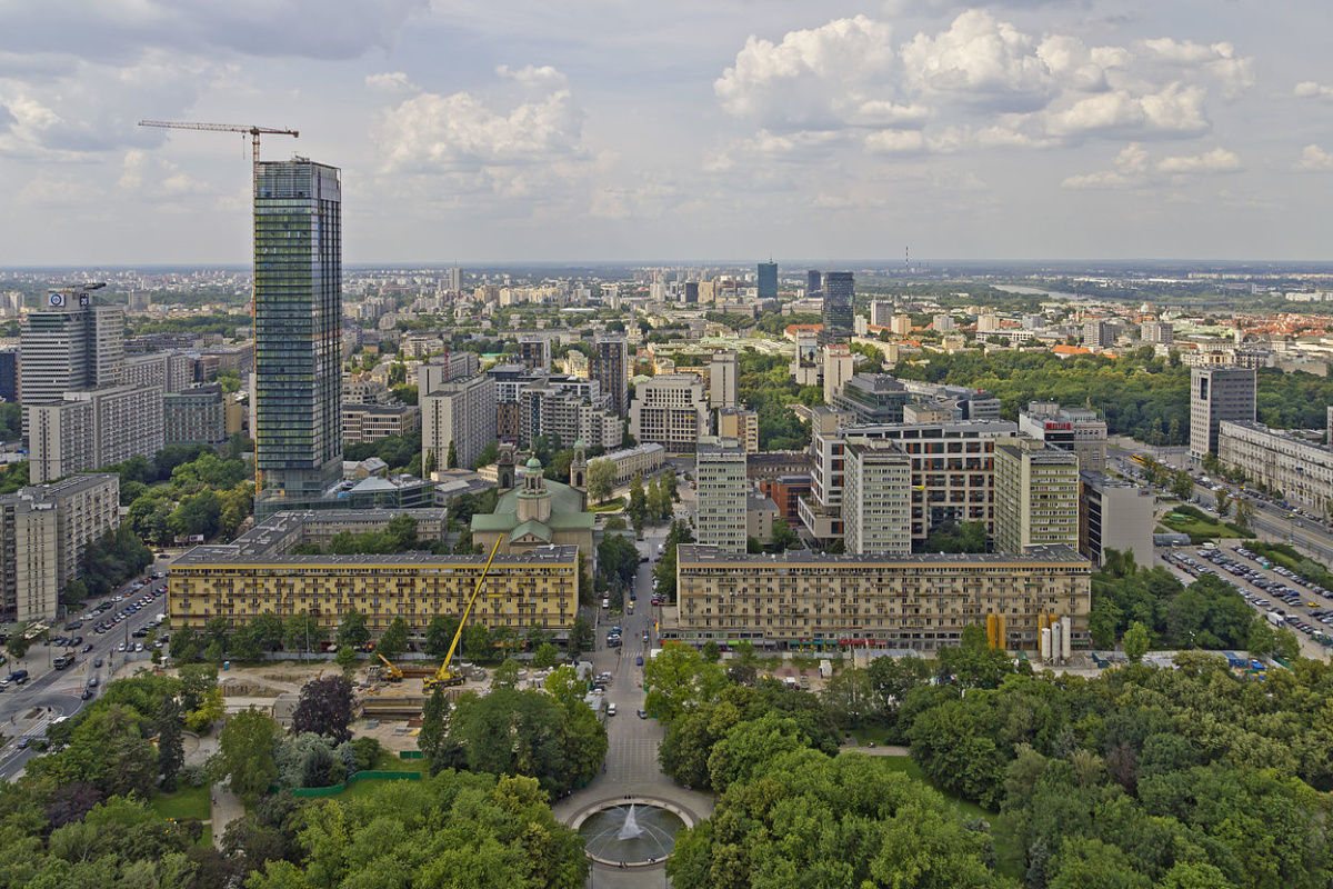 View to Warsaw from Palace of Culture and Science