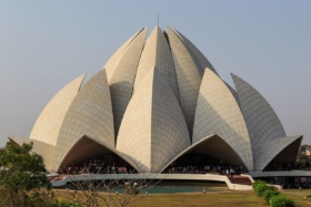 Храм Лотоса в Нью-Дели, Индия / Lotus Temple in New Delhi, India