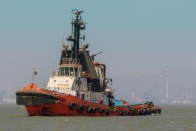 Судно в Бомбейском морском порту. Штат Махараштра, Индия / Ship at Mumbai Harbour, Maharashtra, India