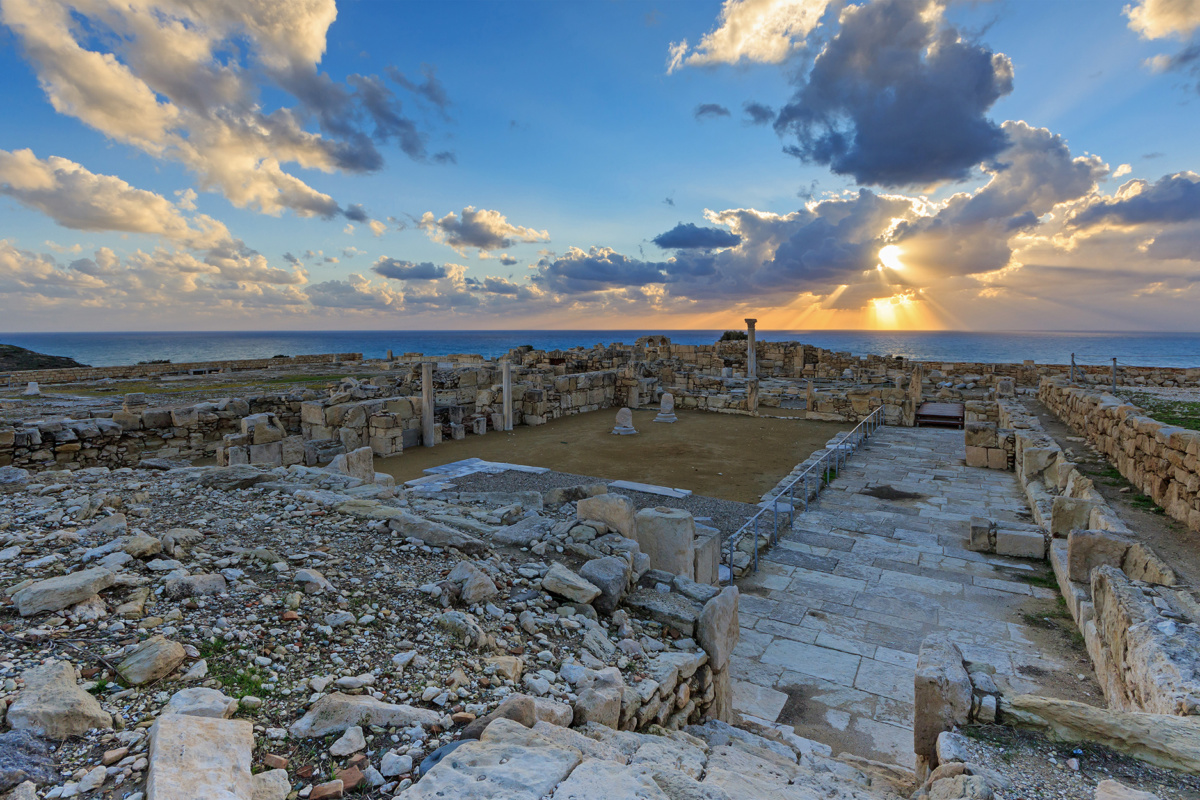 Ancient town of Kourion near Limassol, Cyprus
