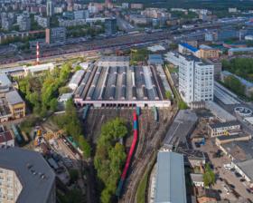 Sokol metro depot in Moscow / Mетродепо Сокол в Москве / © A.Savin CC BY-SA 4.0, FAL