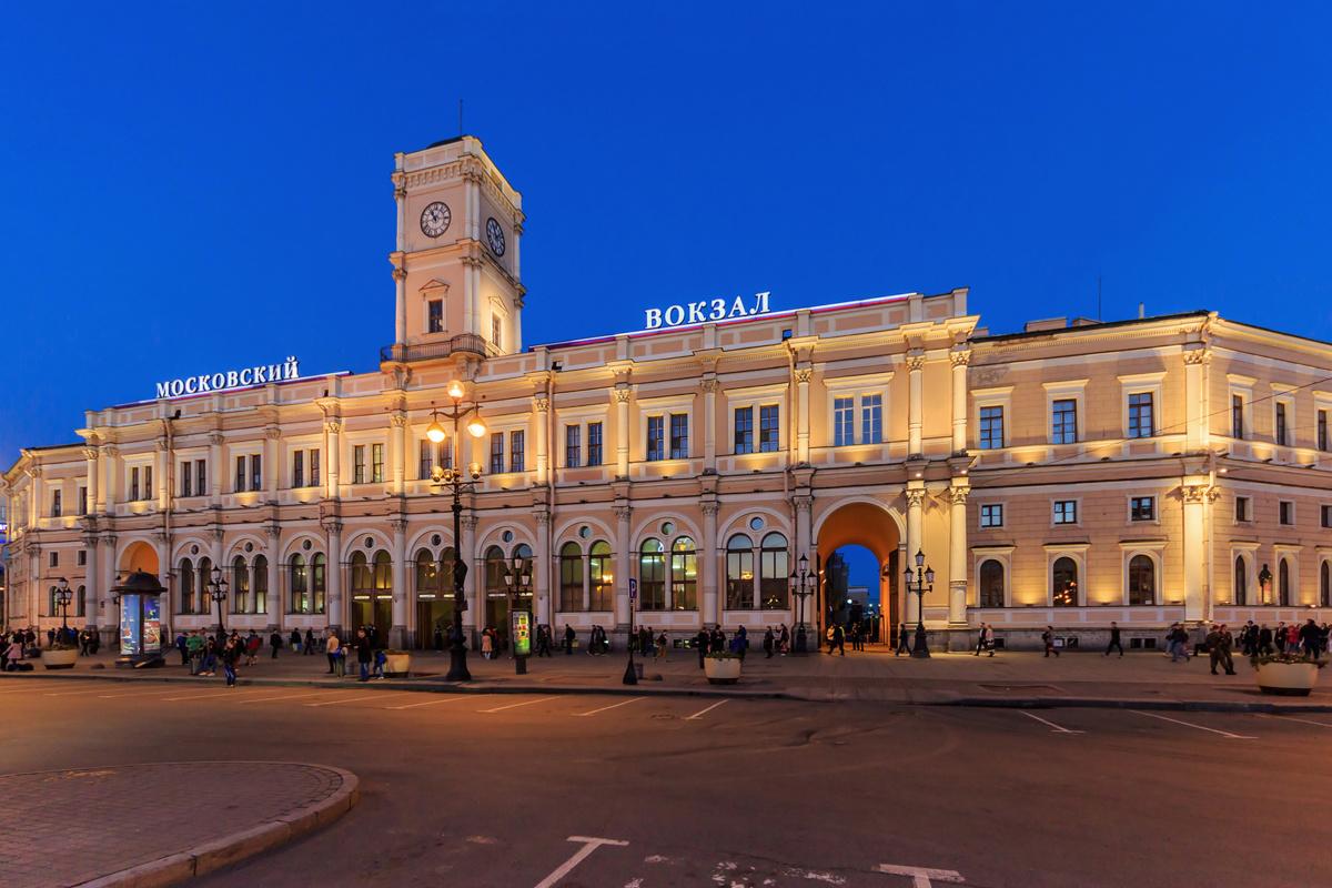 Здание Московского вокзала в Санкт-Петербурге